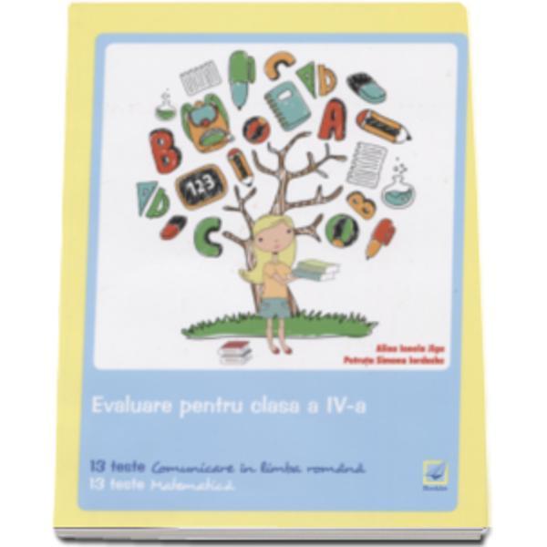 Evaluare pentru clasa a IV-a - Teste este un instrument de lucru foarte util elevilor de clasa a IV-a care se pregatesc pentru sustinerea examenului de evaluare nationalaContine  13 teste de comunicare in limba romana 13
