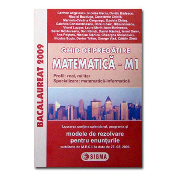Bacalaureat ghid matematica M1 2009