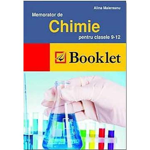 Memorator chimie clasele IX-XIII