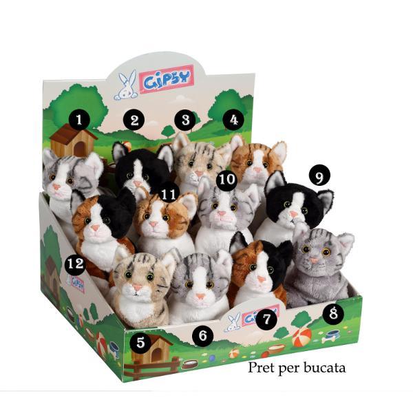 Pisica - jucarie din plus cu sunet 22cmdimensiune 22 cmjucatie de plus cu sunetpoti alege unul din cele&160;12 modele disponibile