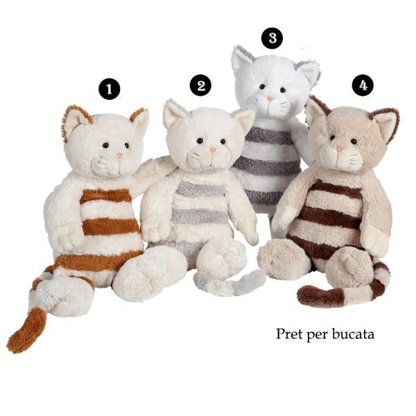Pisica cu dungi - jucarie din plus 30 cmdimensiune 30&160;cmpisica din plus cu dungipoti alege unul din cele&160;4 modele disponibile