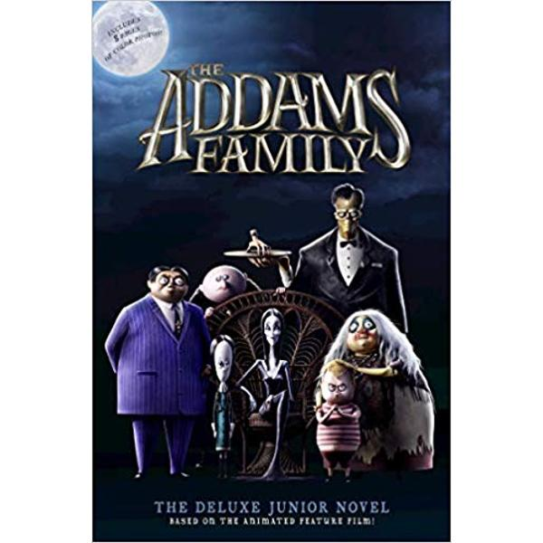Based on the animated filmThe Addams Family The Deluxe Junior Novelretells the entire mysterious and spooky story ofThe Addams FamilyThis deluxe paper-over-board hardcover contains an eight-page full-color insert of eye-catching artThe Addams family isnt your typical American family Together Gomez Morticia Wednesday Pugsley Mad Uncle Fester and Grandma are an eccentric clan who delight in the macabre and are unaware that people
