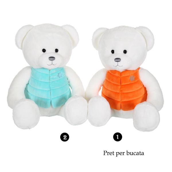 Ursulet alb - jucarie din plus cu vesta 35 cmdimensiune&160;35 cm&160;ursulet alb polar cu vesta coloratapoti alege din cele 2 modele disponible difera doar vesta ursuletului