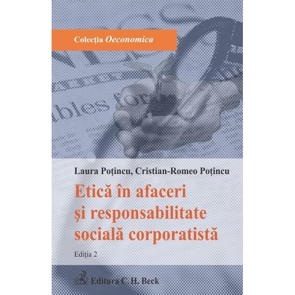 Lucrarea ofer&259; o abordare original&259; a conceptului de Responsabilitate Social&259; Corporatist&259; RSC abordare ce are în vedere aplicarea acestuia în domeniul afacerilor analizând pe larg ansamblul responsabilit&259;&539;ilor componente ale RSC responsabilitatea etic&259; juridic&259; economic&259; ecologic&259; &537;i filantropic&259; Autorii doresc s&259; aduc&259; în vizorul operatorilor economici interesa&539;i posibilitatea