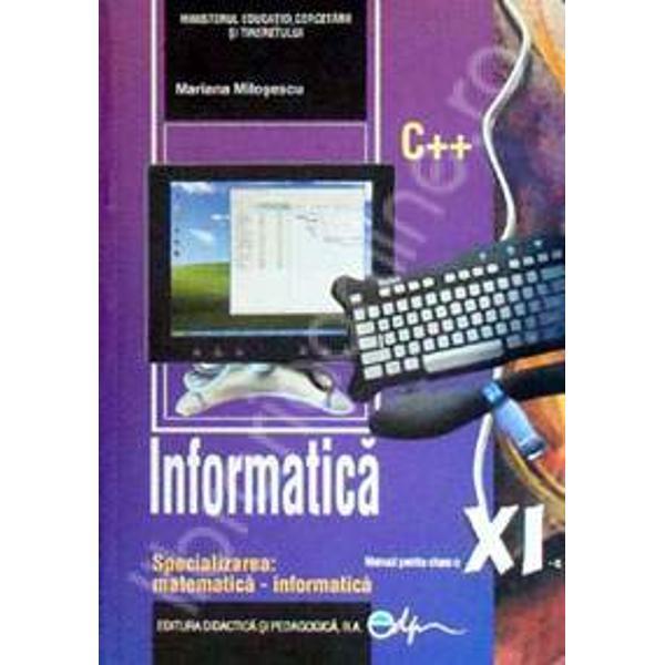 Manual de informatica clasa a XI a mate-info editia 2017