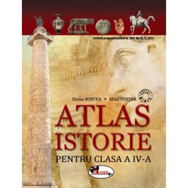 Atlasul enciclopedic dedicat micilor iubitori ai istoriei – un plus necesar desf&259;&537;ur&259;rii orelor de Istorie – v&259; aduce în aten&539;ie h&259;r&539;i fotografii informa&539;ii despre epocile evenimentele sau personalit&259;&539;ile istorice abordateCon&539;inuturile abordate în paginile acestui atlas sunt în conformitate cu programa