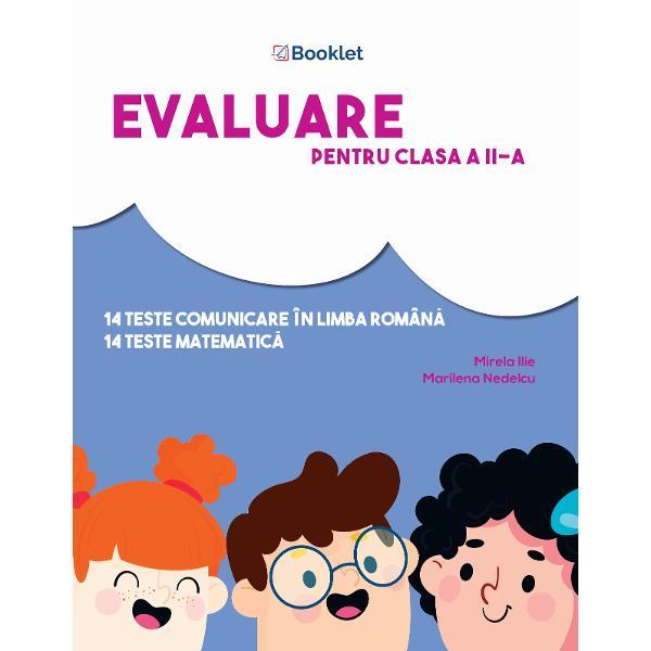 În conformitate cu programa &351;colar&259; &537;i ultimele modele de subiecte propuse de Ministerul Educa&539;iei Na&539;ionaleEvaluare pentru clasa a II-a este un instrument de lucru foarte util elevilor de clasa a II-a care se preg&259;tesc pentru sus&539;inerea examenului de Evaluare Na&539;ional&259;Con&355;ine 16 teste de comunicare în limba român&259; scris · citit &537;i 12 teste de matematic&259; ce evalueaz&259; capacitatea de