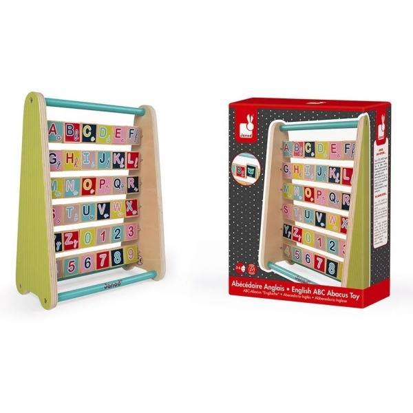 PentruBaieti FeteVarsta3 - 4 ani 4 - 5 aniBrandJanodAlphabetar in limba engleza pentru a invata litere numere si obiecte In spatele fiecarei litere este o ilustratie care incepe cu litera respectiva ex A Apple B Ball etc Invatarea alfabetului va deveni jocul preferat al