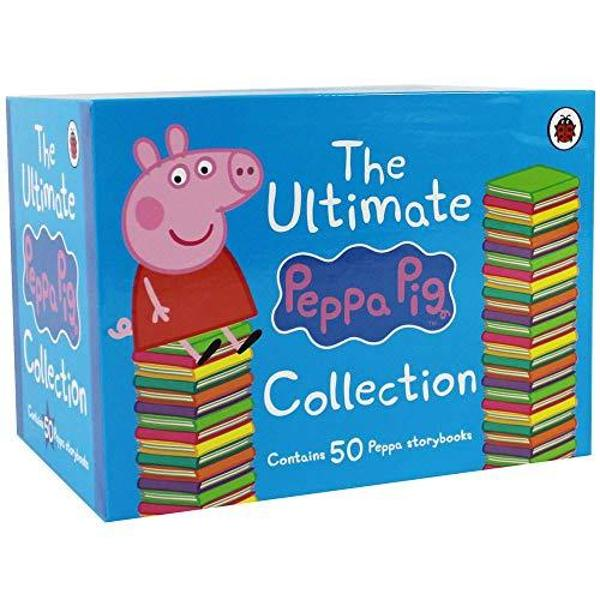 The Peppa Pig Ultimate collection features 50 amazing story books from everyones favourite pig Join Peppa Pig and friends on many adventures including Peppa Plays Basketball My Naughty Tortoise and Daddy Pigs Office This collection is perfect for Peppa Pig lover aged 3
