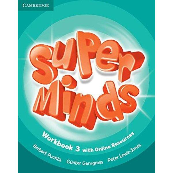 Super Minds is a seven-level course for young learners Super Minds enhances your students thinking skills improving their memory along with their language skills This Level 3 Workbook includes exercises to develop language creatively cross-curricular thinking with fascinating English for school sections and lively stories that explore social values For each Students Book page this Workbook features a page of activities Students also have access to an online platform with games and
