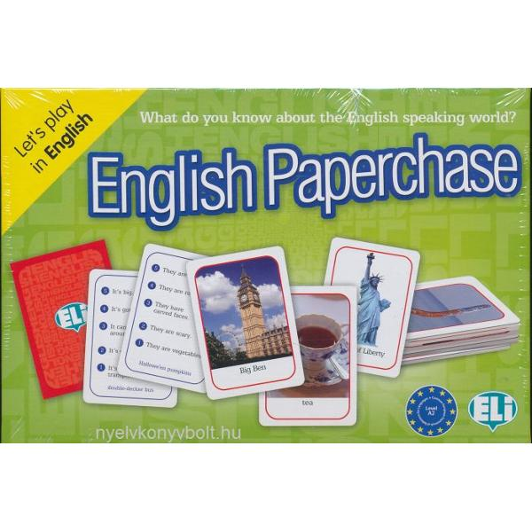 LEVEL A2-B1How well do you know Britain and the English-speaking world Find out by playing this great new game with its monuments places people and products from around the English-speaking world Each card has five clues and each clue has a score become the championThe box contains• 66 photographic playing cards;• 66 playing cards with clues;• a teacher's booklet