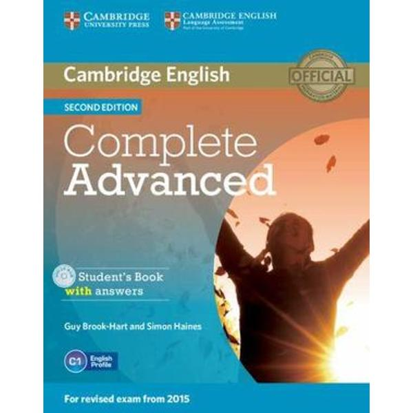 Complete Advanced provides thorough preparation for the revised 2015 Cambridge English Advanced CAE exam It combines the very best in contemporary classroom practice with first-hand knowledge of the challenges students face This course provides comprehensive language development integrated with exam-task familiarisation There are exercises to help students avoid repeating the typical mistakes that real exam candidates make as revealed by the Cambridge Learner Corpus This topic-based