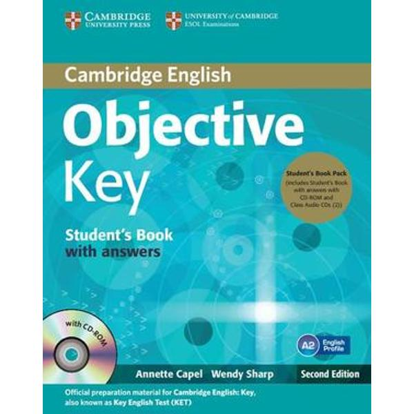 Objective Key offers students complete official preparation for the Cambridge English Key KET exam This is a revised edition of Objective KET Short units offer a variety of lively topics while providing training in exam skills and solid language development Key words sections informed by English Profile highlight the words and meanings A2-level students need to master Spelling Spots and Grammar Extra boxes informed by the Cambridge English Corpus provide help with language