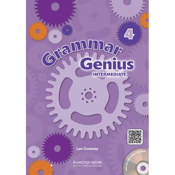 Grammar Genius is a series of beautifully illustrated grammar reference and practice books taking students from Beginner to Intermediate level Students are slowly introduced to FCE and ECCE-style tasks throughout the course Thanks to its thoroughly-researched syllabus it can be used alongside any course book Join the young inventor Eugenius his robot Dax and his friends in Grammar Genius 4 and have fun discovering English