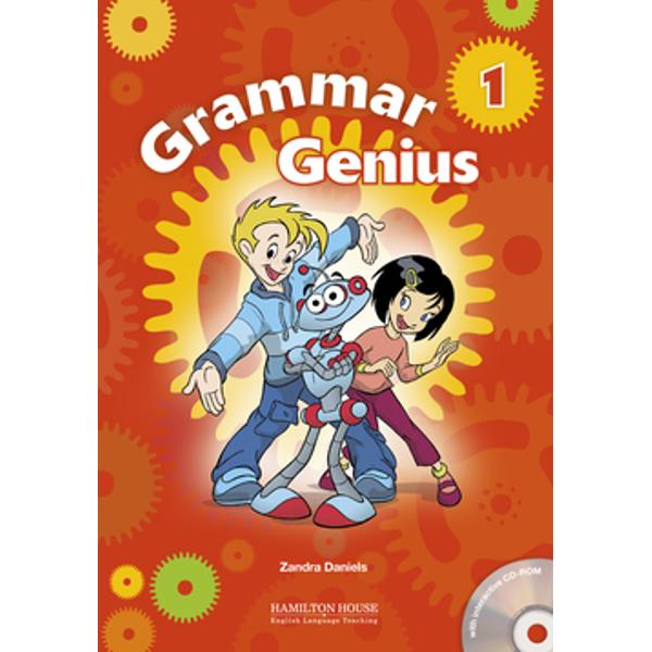 Grammar Geniusis a series of beautifully illustrated grammar reference and practice books taking students from Beginner to Intermediate level Students are slowly introduced to FCE and ECCE-style tasks throughout the course Thanks to its thoroughly-researched syllabus it can be used alongside any course bookJoin the young inventor Eugenius his robot Dax and his friends inGrammar Genius 1-3and have fun discovering