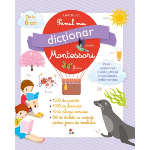 O lucrare util&259; &537;i atractiv&259; în care copiii de la 6 ani în sus pot descoperi cele mai importante 1 000 de cuvinte &537;i expresii ale limbii româneUN DIC&538;IONAR SPECIAL FORMULAT PENTRU CEI MAI MICI -1 500 de cuvinte &537;i expresii esen&539;iale pentru a citi a scrie &537;i a se exprima în limba român&259;-Un vocabular selec&539;ionat pentru copii de la 6 ani în sus-Exemple clare pentru a pune