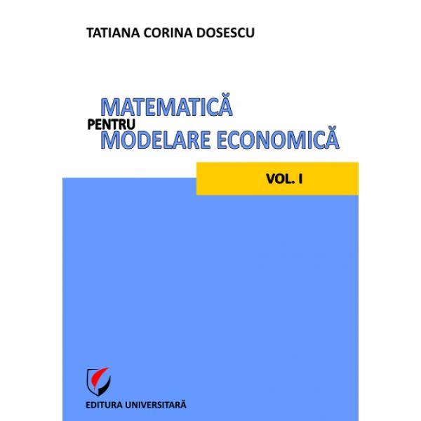 Modelarea economic&259; este o îndeletnicire a celor califica&355;i în a prelucra informa&355;ia din domeniul economic în vederea sporirii eficien&355;ei a valorii ad&259;ugate a fundament&259;rii actului de decizie &351;i realiz&259;rii multor altor obiectiveComplexitatea fenomenelor economice necesit&259; completarea model&259;rii economice ce are drept rezultat modelul economic cu o modelare matematic&259; al c&259;rei produs este modelul
