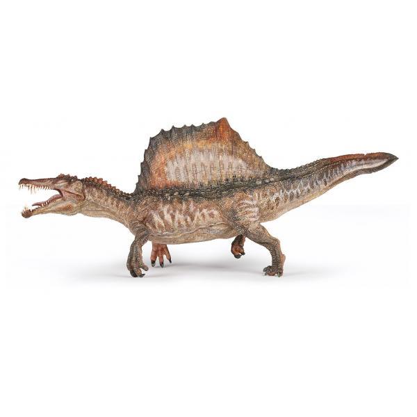 Figurina Papo - Dinozaur Spinosaurus mareeste o figurina in editie limitata pentru acest dinozaur extraordinar Acest dinozaur a trait in urma cu 110 pana la 97 milioane de ani in ceea ce este azi Africa de NordCantitate limitata - editie limitataDinozaurul Spinosaurus este cunoscut cel mai mare dinozaur carnivor terestru Acesta putea ajunge pana la 16-18 metri lungime si 7-9 tone greutate Reprezentat aici in pozitia sa de vanatoare