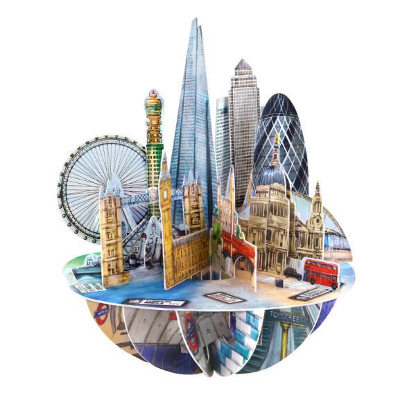 Felicitarea 3D Pirouettes Santoro-Londra este o felicitare suvenircu perspectiva 360&730; care te invita in Londra orasul viselor alaturi de persoana careia i-o vei adresa Deschide felicitarea prin simpla rotire a manerului in jurul bazei pentru ca orasul luminilor sa te captiveze alaturi de cei dragiCaracteristiciDiametru felicitare 20x15 cmTip
