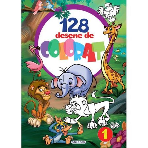 Cautati o activitate care sa ii dezvolte creativitatea copilului dumneavoastra Va propunem aceasta carte cu 128 desene de colorat