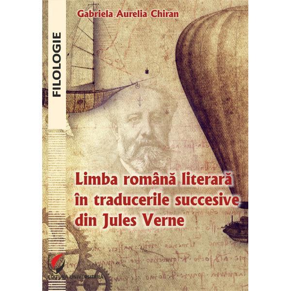 Premisa de la care porneste lucrarea Gabrielei Aurelia Panait Chiran este aceea ca maturitatea unei limbi literare se poate aprecia si in raport de capacitatea de a reda scrieri straine de larga circulatie internationala Le Chateau des Carpathes nu este desigur o capodopera a literaturii universale nu este nici macar cea mai izbutita scriere a lui Jules Verne dar este o carte care a marcat generatii intregi de cititori de pe toate meridianele globului pamantesc Ea reprezinta alaturi de