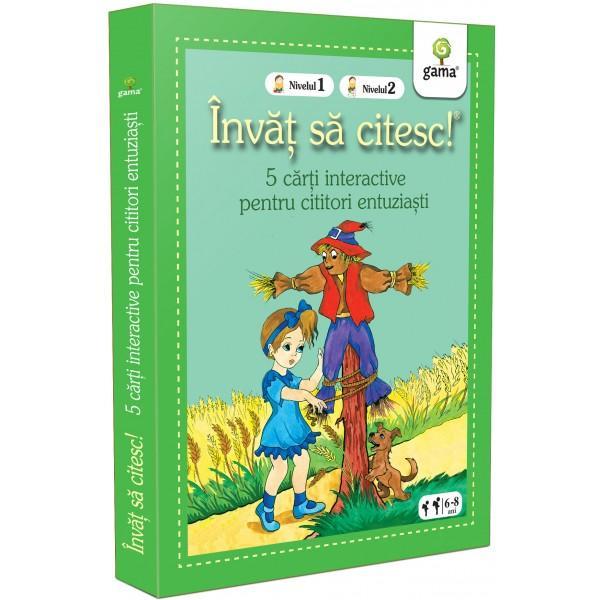 Pachetul Înv&259;&539; s&259; citesc - 5 c&259;r&539;i interactive pentru cititori entuzia&537;tieste destinat copiilor care &537;tiu s&259; citeasc&259; dar sunt la început de drum pentru ei fiecare poveste pe care o deslu&537;esc singuri este o victorie În interior ve&539;i g&259;si 4 c&259;r&539;i de nivelul 1 – în care textul este pres&259;rat cu ilustra&539;ii ajut&259;toare – &537;i o carte de