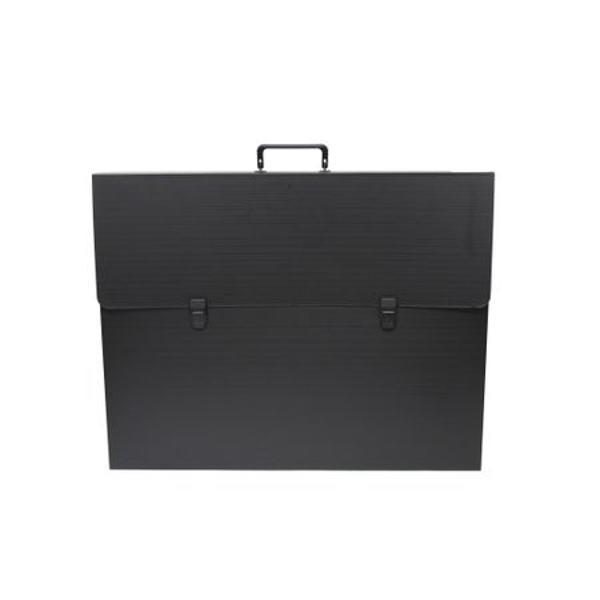 Servieta plastic neagra 2 incuietori 42 x 56 x 6 cm