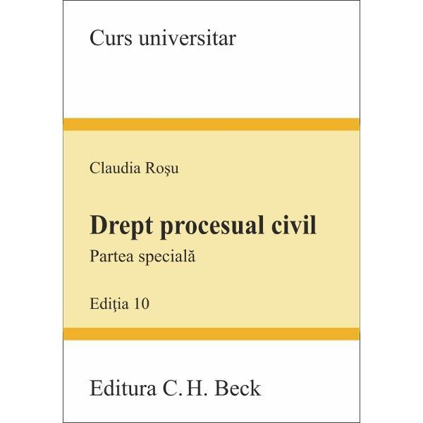 Despre lucrareLucrarea cuprinde o analiz&259; de ansamblu a institu&355;iilor de drept procesual civil partea special&259; conform noului Cod de procedur&259; civil&259; Partea special&259; urm&259;re&351;te s&259; explice optica legiuitorului privitoare la desf&259;&351;urarea procesului civil în c&259;ile de atac dispozi&355;ii privind asigurarea unei practici judiciare unitare contesta&355;ia privind tergiversarea procesului
