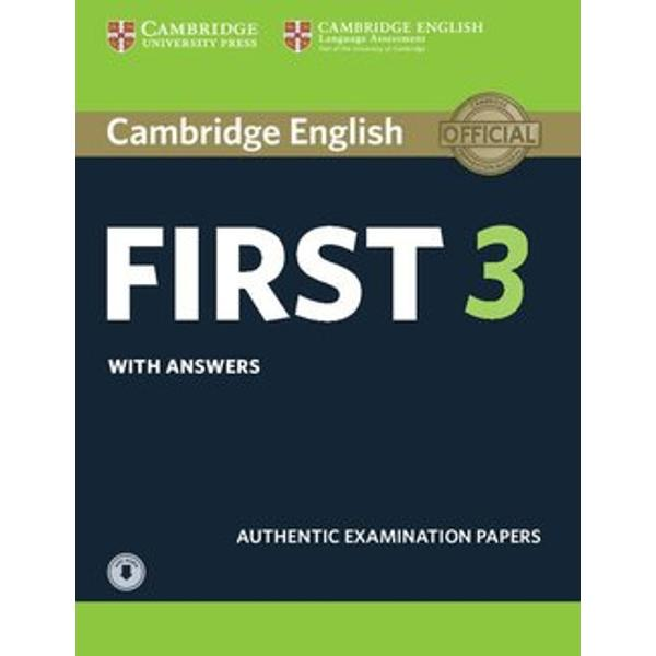 Four authentic Cambridge English Language Assessment examination papers for the Cambridge English First FCE examThese examination papers for the Cambridge English First FCE exam provide the most authentic exam preparation available allowing candidates to familiarise themselves with the content and format of the exam and to practise useful exam techniques Downloadable audio contains the listening tests material The Students Books and Audio CDs are also available
