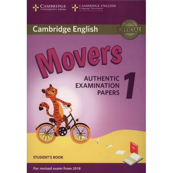 Authentic examination papers for learners preparing for the revised Cambridge English Young Learners from 2018This collection of examination papers for Cambridge English Movers YLE Movers provides ideal exam practice It contains three full-colour test papers which contain engaging activities and attractive illustrations to motivate young learners These papers also provide an excellent opportunity for children parents and teachers alike to familiarise themselves with the