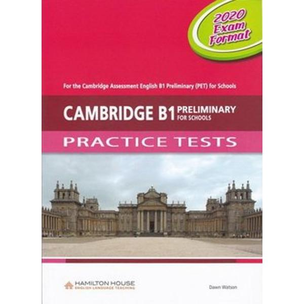 Cambridge PET Practice Tests have been designed to familiarise students with the 2020 test format of the Cambridge English Key for Schools examinations as well as to expand their vocabulary and to improve the skills required to pass these examinationsCambridge PET for Schools Practice Tests contain• six complete practice tests• a full introduction to the examination• exam technique sections advising students on how to
