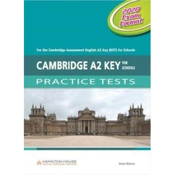 Cambridge KET Practice Tests have been designed to familiarise students with the 2020 test format of the Cambridge English Key for Schools examinations as well as to expand their vocabulary and to improve the skills required to pass these examinationsCambridge KET for Schools Practice Tests contain• six complete practice tests• a full introduction to the examination• exam technique sections advising students on how to