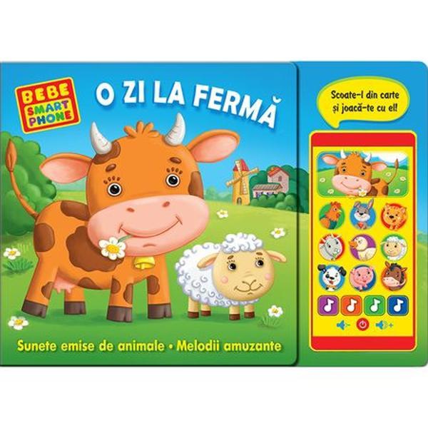 Cu ajutorul acestei c&259;r&539;i impresionante copiii vor înv&259;&539;a animalele de la ferm&259; în timp ce se joac&259; Un telefon de juc&259;rie d&259; voce tuturor personajelor din carte &537;i îi încânt&259; pe cei mici cu melodii amuzante Copiii pot s&259; se joace cu telefonul în timp ce p&259;rin&539;ii le citesc povestioara sau separat Bucura&539;i-v&259; împreun&259; de o zi mununat&259; al&259;turi de animalele de la