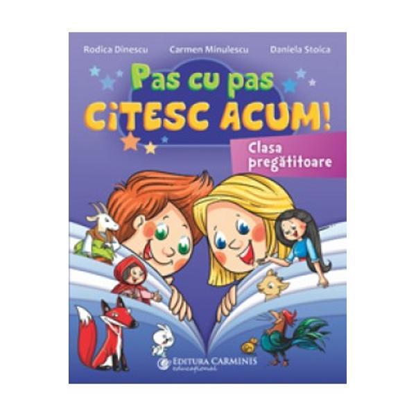"""Lucrarea """"Pas cu pas citesc acum"""" vine în sprijinul elevilor din clasa preg&259;titoare fiind un auxiliar util pentru exersarea &537;i sistematizarea cuno&537;tin&539;elor de comunicare în limba român&259; prev&259;zute în programa &537;colar&259; în vigoare Materialul propus cuprinde o palet&259; larg&259; de exerci&539;ii jocuri &537;i teme din universul copiilor fiind o invita&539;ie"""