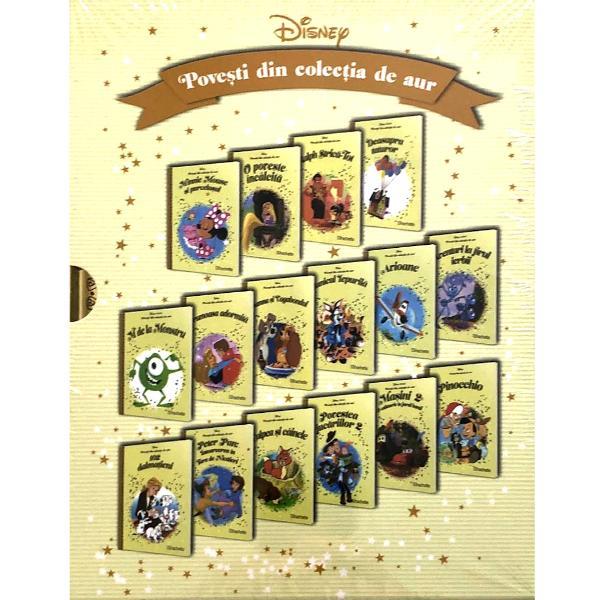Pachet Disney Povesti din colectia de aur vol 26-41 continua seria de volume marca Disney cu alte 16 povesti dedicate celor miciVol 26 - Minnie Mouse si purcelusulVol 27 -O poveste incalcitaVol 28 - Ralph – Strica TotVol 29 -Deaspura tuturorVol 30 - M de la MonstruVol 31 - Frumoasa adormitaVol 32 -Doamna si VagabondulVol 33