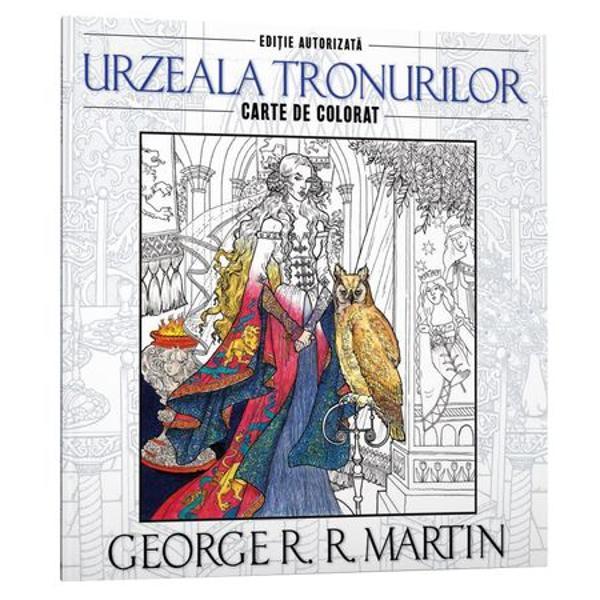 Descoper&259; faimoasa serie epic&259; a lui George RR Martin într-un mod cu totul unic cu aceast&259; carte de colorat inegalabil&259; incluzând patruzeci &351;i cinci de ilustra&355;ii exclusive Intr-o lume în care nun&355;ile sunt ro&351;ii focul este verde iar datoriile se pl&259;tesc în aur nenum&259;rate imagini prind via&355;&259; în fiecare pagin&259; gra&355;ie detaliilor ce împodobesc decorurile &351;i