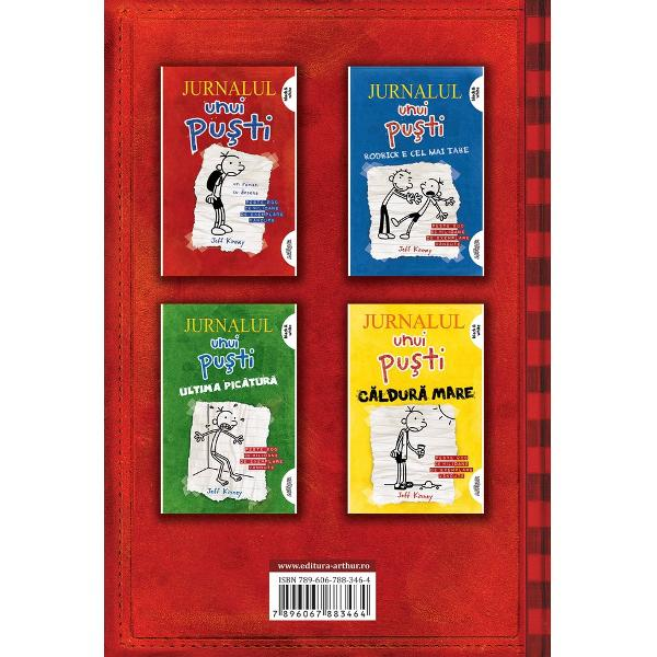 """C&259;r&539;ile din seria """"Jurnalul unui pu&537;ti"""" s-au vândut în 200 de milioane de exemplare în toat&259; lumea au fost traduse în 60 de limbi &537;i sunt citite în 140 de &539;&259;riNu e deloc u&537;or s&259; fii pu&537;ti &536;i nimeni nu &537;tie asta mai bine decât Greg Heffley Pericolele care te a&537;teapt&259; când vrei s&259; scapi de copil&259;rie mai repede decât ar fi cazul sunt foarte bine"""
