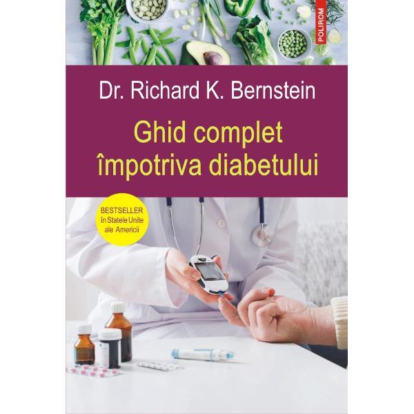 Bestsellerîn Statele Unite ale AmericiiDiagnosticat el însu&351;i cu diabet la o vîrst&259; fraged&259; dr Richard K Bernstein propune un ghid accesibil &351;i detaliat al metodei sale revolu&355;ionare de a men&355;ine glicemia diabeticilor în limite normale ajutîndu-i astfel s&259; evite sau s&259; elimine