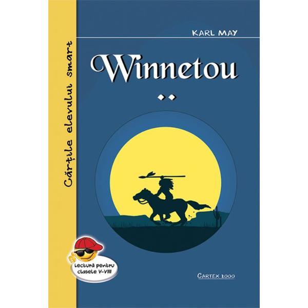 Winnetou este un erou amerindian fictiv ce apare in mai multe romane scrise de Karl May 1842-1912 unul dintre cei mai bine cotati autori germani ai tuturor timpurilor cu aproape 200 de milioane de exemplare ale cartilor sale vandute in intreaga lume dintre care cele mai cunoscute sunt volumele trilogiei Winnetou Naratiunea romanelor este la persoana intai din prisma lui Old Shatterhand care il intalneste pe Winnetou in urma unui conflict dramatic initial Ulterior intre Old