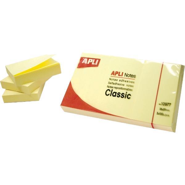 Notite autoadezive pozitionabile pe numeroase suprafete datorita adezivului de calitate Nu se curbeaza si pot fi repozitionate Culoare galben