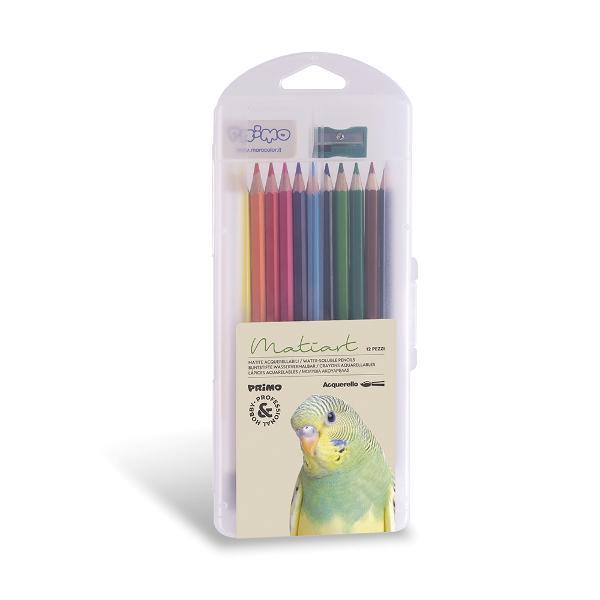 Set 12 creioane colorate diametru 33 mm solubile in apa Setul contine 12 creioane 1 pensula 1 radiera 1 ascutitoare