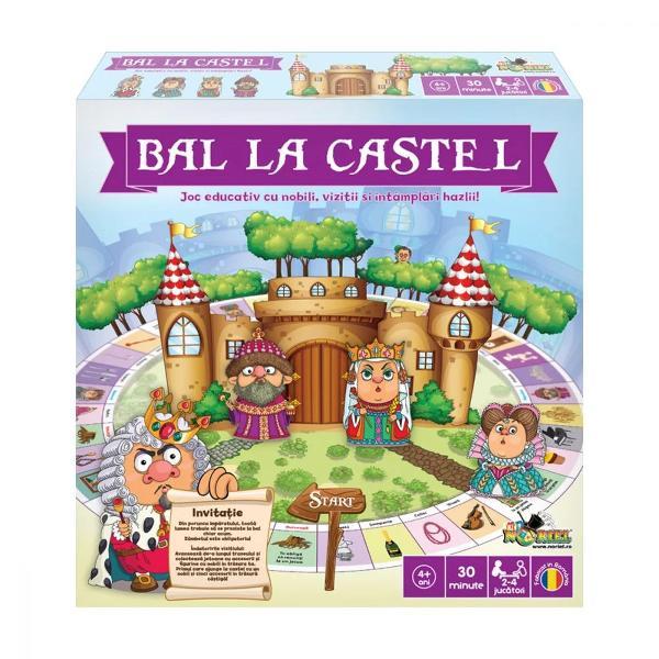 Pentru Baieti FeteVarsta 4 - 5 ani 5 - 7 ani 7 - 8 ani 8 - 10 aniBrand Noriel GamesPregateste-ti trasura si inhama-ti caii pentru ca balul e pe cale sa inceapa pregatirile sunt in toi si invitatii incep sa soseasca dar inca lipsesc multe lucruriE momentul sa interviiAsambleaza plansa de joc castelul mininatural si trasurile Pune castelul in centrul plansei si imparte fiecarui jucator o trasura si o figurina vizitiuPrimul vizitiu care aduce