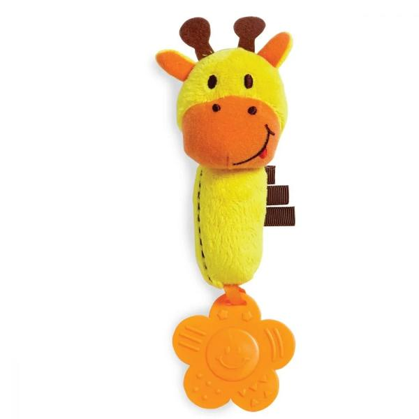 Pentru Baieti FeteVarsta 0 - 6 luni 6 - 12 luniCuloare GalbenBrand EdushapeModul ideal de a calma durerile si de a-l face pe bebelus sa uite de gingiile care-l suparaBebelusii vor descoperi texturile diferite ale jucariei si vor adora girafa simpatica cu manute micute care ii priveste insistentDimensiuni 20 x 13 x 5 cmProdusul este destinat copiilor cu varsta peste 0 luni Nota Jucaria poate fi spalata la masina Culorile si