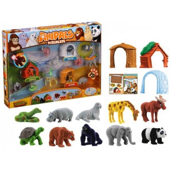Acum poti avea propria colectie de animale salbatice in miniaturaFigurinele Anipals sunt realizate dintr-un plus foarte moale si placut la atingere Colectioneaza-le si joaca-te cu noii tai prieteni din plus