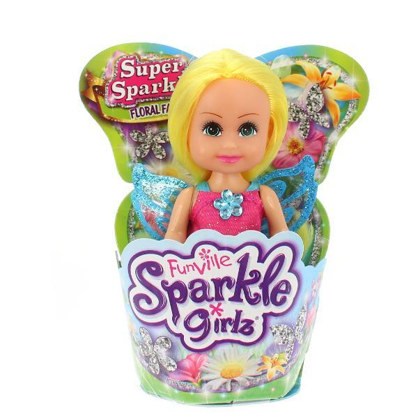 O superPapusa Sparkle Girlz in briosa - Zana floarece este ideala pentru toate fetitele care iubesc papusile Aceasta papusa este deosebita datorita faptului ca vine intr-un suport de tip briosa si este foarte sclipicioasa Ea o sa fie noua atractie pentru toate fetitele asa ca joaca-te cu toate prietenele tale si arata-le noua ta super papusa si jucati-va impreuna cu eaProdusulnu se recomanda fetitelor cu varsta de sub 3