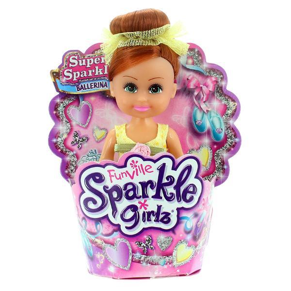 O superPapusa Sparkle Girlz in briosa - balerinace este ideala pentru toate fetitele care iubesc papusile Aceasta papusa este deosebita datorita faptului ca vine intr-un suport de tip briosa si este foarte sclipicioasa Ea o sa fie noua atractie pentru toate fetitele asa ca joaca-te cu toate prietenele tale si arata-le noua ta super papusa si jucati-va impreuna cu eaProdusulnu se recomanda fetitelor cu varsta de sub 3