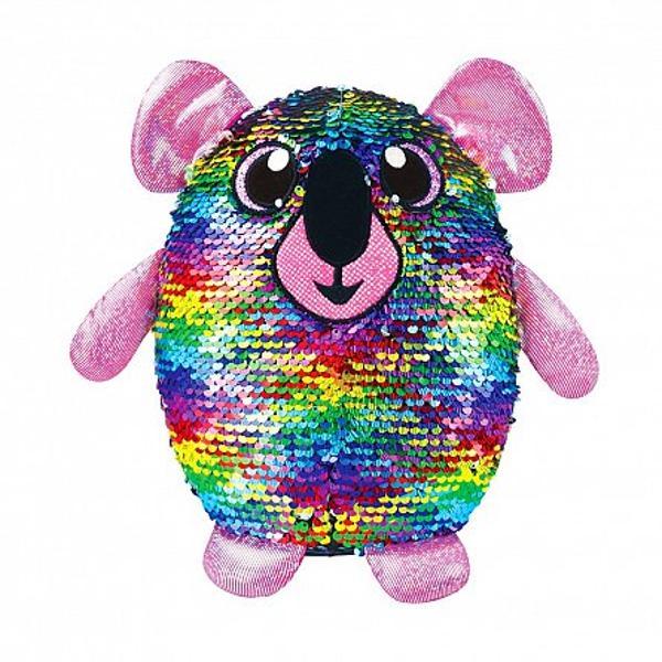Plusul cu paiete reversibileva fi un accesoriu amuzant pentru fetitele de orice varsta Ursuletul Koala multicolor este unul dintre cele mai haioase personaje ale colectiei Culoarea se transforma atunci cand se schimba asezarea paietelorPoti sa ii schimbi culoarea intregului plus sau doar sa faci forme amuzante din combinatia de culoriPlusurile cu paiete reversibile sunt disponibile in mai multe culori Colectioneaza-le si vei gasi cate o culoare