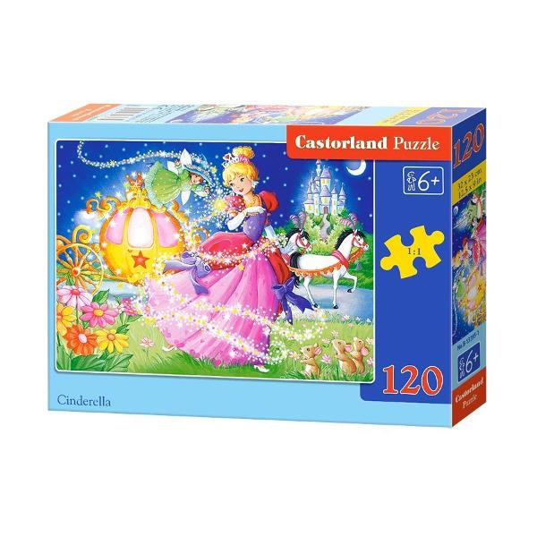 Puzzle de 120 de piese cu o imagine draguta cu CenusareasaDimensiuni cutie 245×175×37cmDimensiune puzzle 32×23cm Pentru cei cu varste peste 6 ani