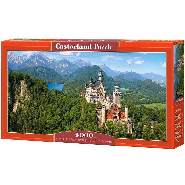 Puzzle de 4000 de piese panoramic cu castelul Neuschwanstein din Germania Cutia are dimensiunile de 468×272×5cm iar puzzle-ul are 138×68cm