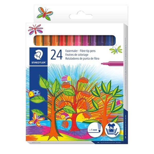 Set Carioca 24 culori  cutieSe spala cu usurinta de pe majoritatea materialelor textileCapac ventilat